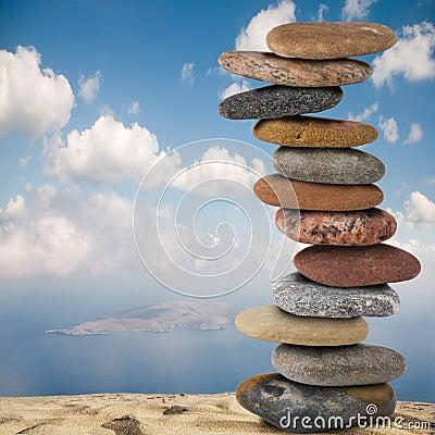 Free Stones On Sand Royalty Free Stock Photos - 11510588