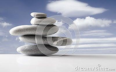 Stones over sky