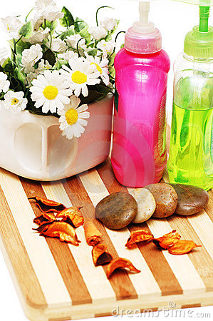 Stones,  petals and balms for aromatherapy session