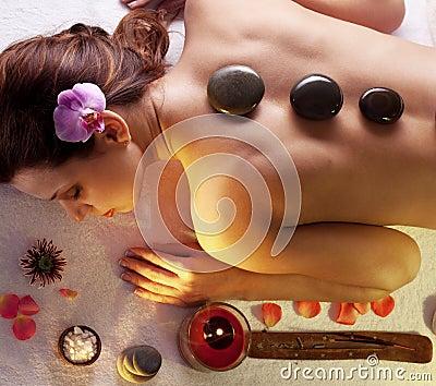 Stones spa procedures.
