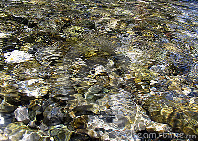 Stones under water