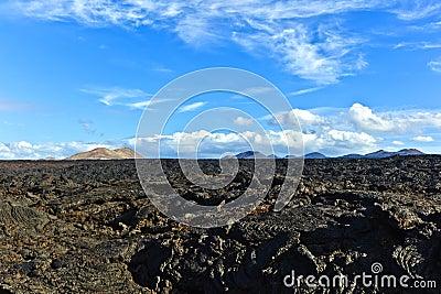 Stones of volcanic flow