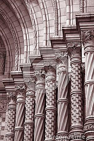 Stonework no museu nacional da História