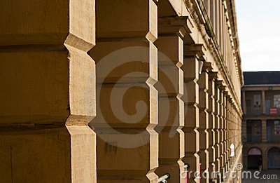 Stonework of in Piece Hall, Halifax