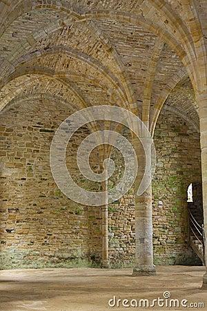 Stonework velho da abadia