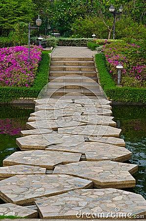 Free Stony Path Through The Garden Royalty Free Stock Image - 23574096
