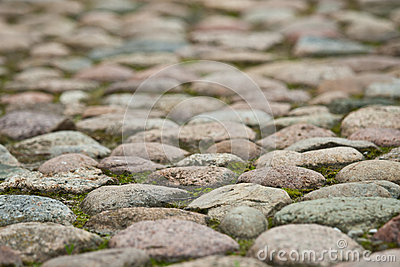 Stony pavement