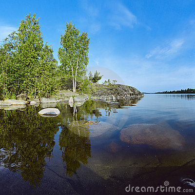 Free Stony Shore Of Ladoga Lake Stock Photos - 17425023