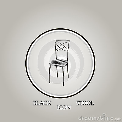 Stool Black Vector Illustration