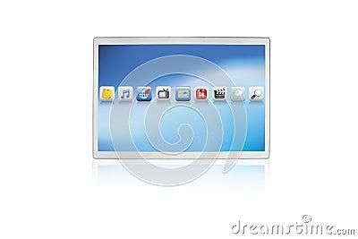 Stootkussen van de het scherm het futuristische computer van de aanraking