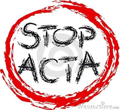 STOP ACTA Editorial Stock Image