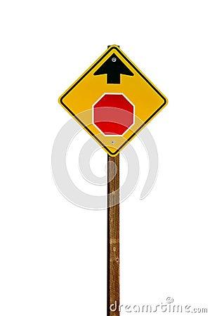 Stop Ahead Warning Sign