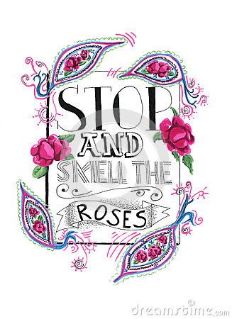 Free Stop And Smell The Roses Royalty Free Stock Photography - 79233917