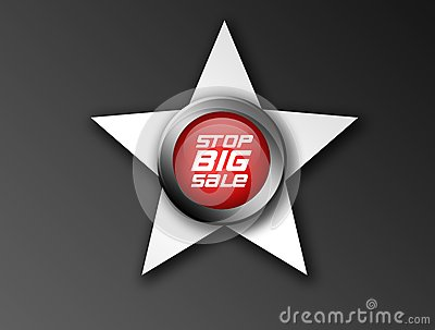 Stop big sale icon