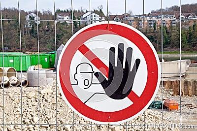 Stop,building site