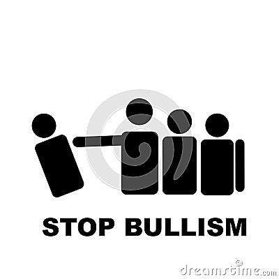 Stop bullism white signal
