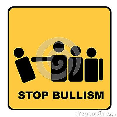 Stop bullism yellow signal