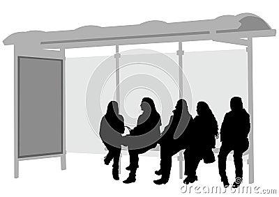 Stop bus women