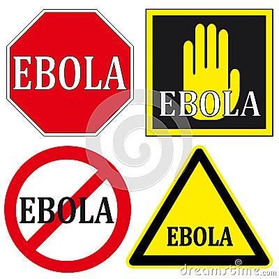 Stop EBOLA Signs