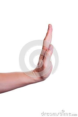 Stop/forbid gesture