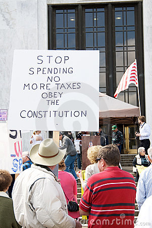 Free Stop Government Spending  Protest Sign. Royalty Free Stock Photography - 14249057