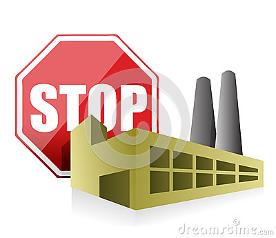 Stop pollution environmental concept
