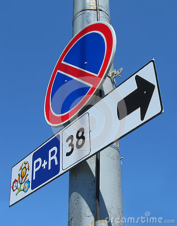 Stop road sign with EURO 2012 championship emblem, Editorial Stock Image