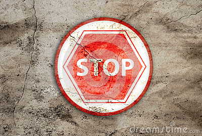 Stop rusty sign