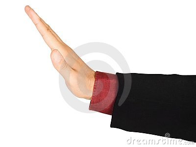 Stop s hand