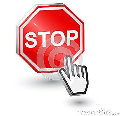 Stop sign, 3d.
