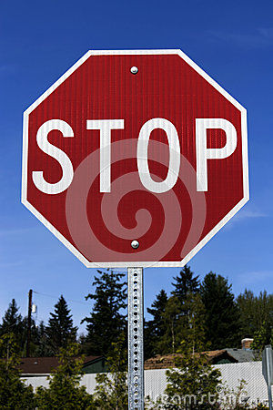 Stop sign(with cliping path)