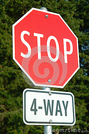 Stop Sign Four Way