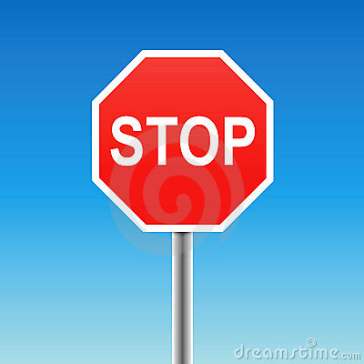 Stop sign (vector)