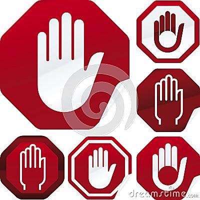 Stop signal sticker