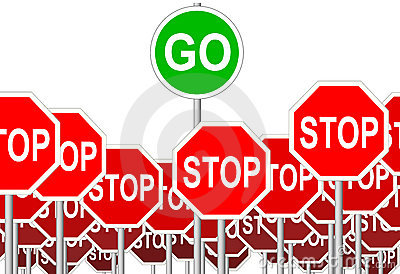 STOP Signs GO Sign progress symbol isolated