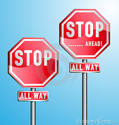 Stop Signs Set