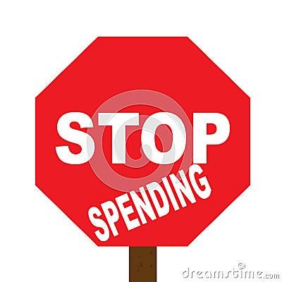 Stop spending sign
