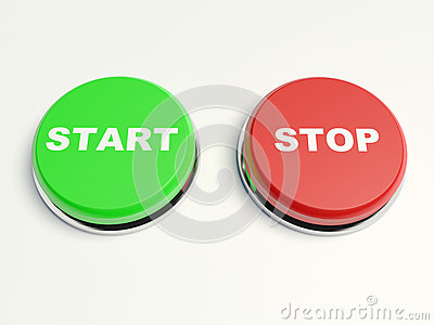Stop and start buttons