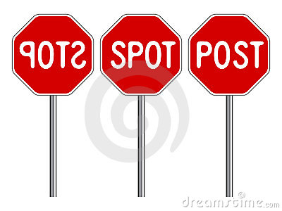 Stop stylized traffic signs
