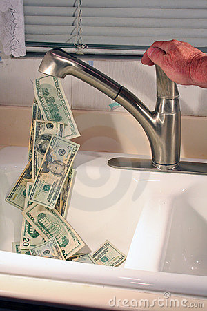 Free Stop The Flow Of Money! Stock Photography - 8064012