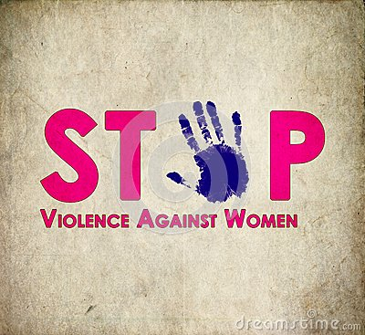 Free Stop Violence Against Women Retro Stock Images - 54521184