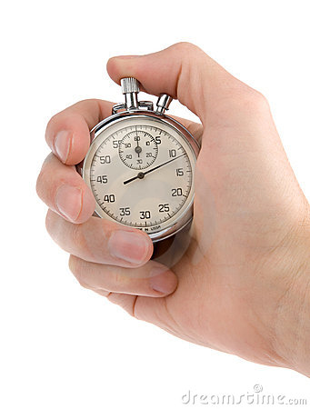 Stop-watch in a hand