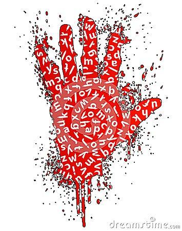Stop words gesture design element