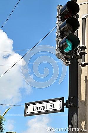 Stoplight on Duval Street