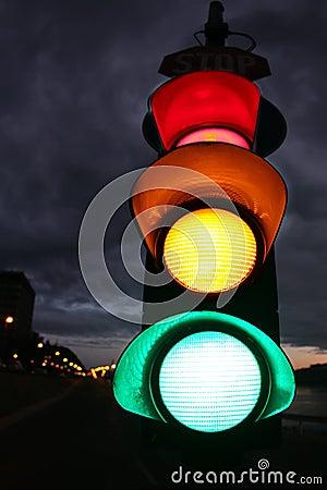 Stoplight - fisheye photo
