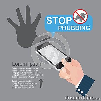 Stoppa Phubbing, infographics.