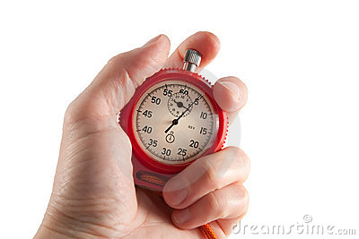 Stopwatch in the hand