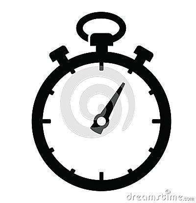 Stopwatch Icon Stock Vector