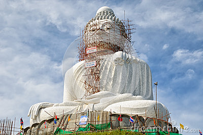 Stor Buddha av Phuket Redaktionell Arkivbild