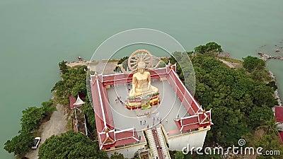 Stor Buddha-staty i Phuket, Thailand arkivfilmer
